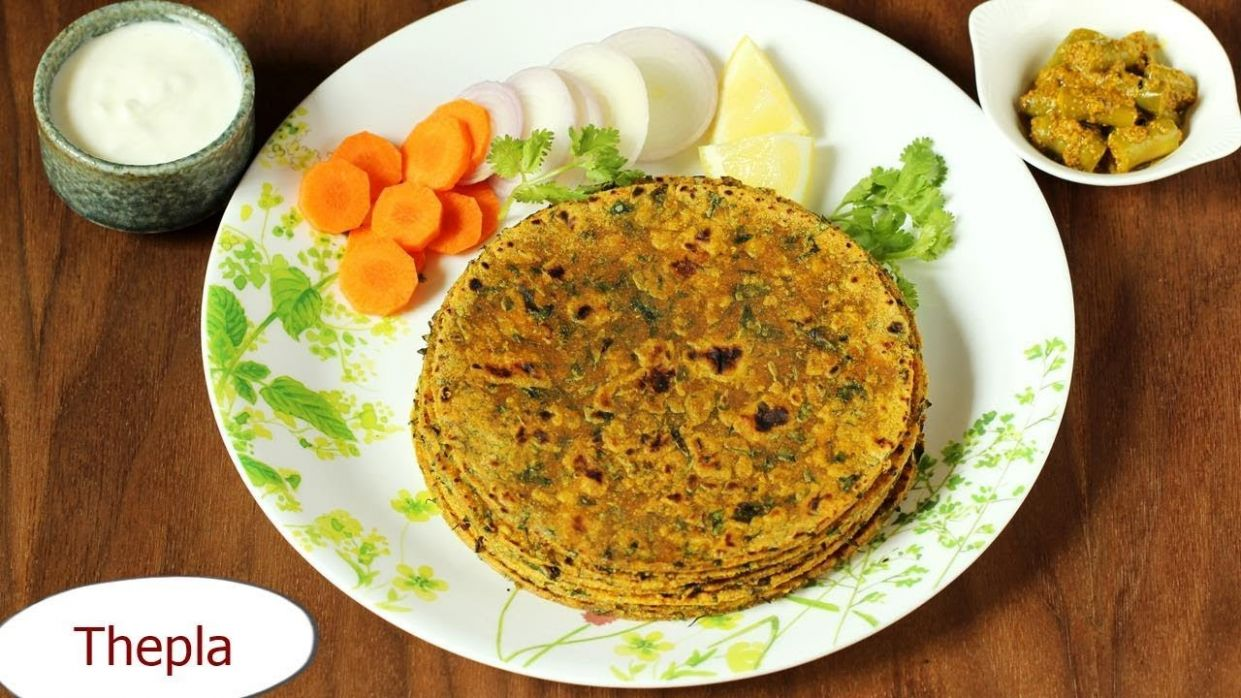 Thepla Recipe | How to make Methi Thepla | Healthy breakfast recipe - Breakfast Recipes Swasthi
