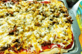 Thick Crust Sausage Pizza