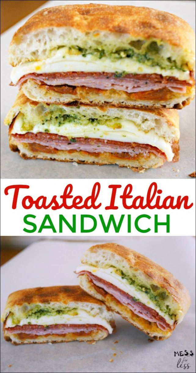Toasted Italian Sandwich - Food Fun Friday - Mess for Less - Sandwich Recipes On Ciabatta Bread