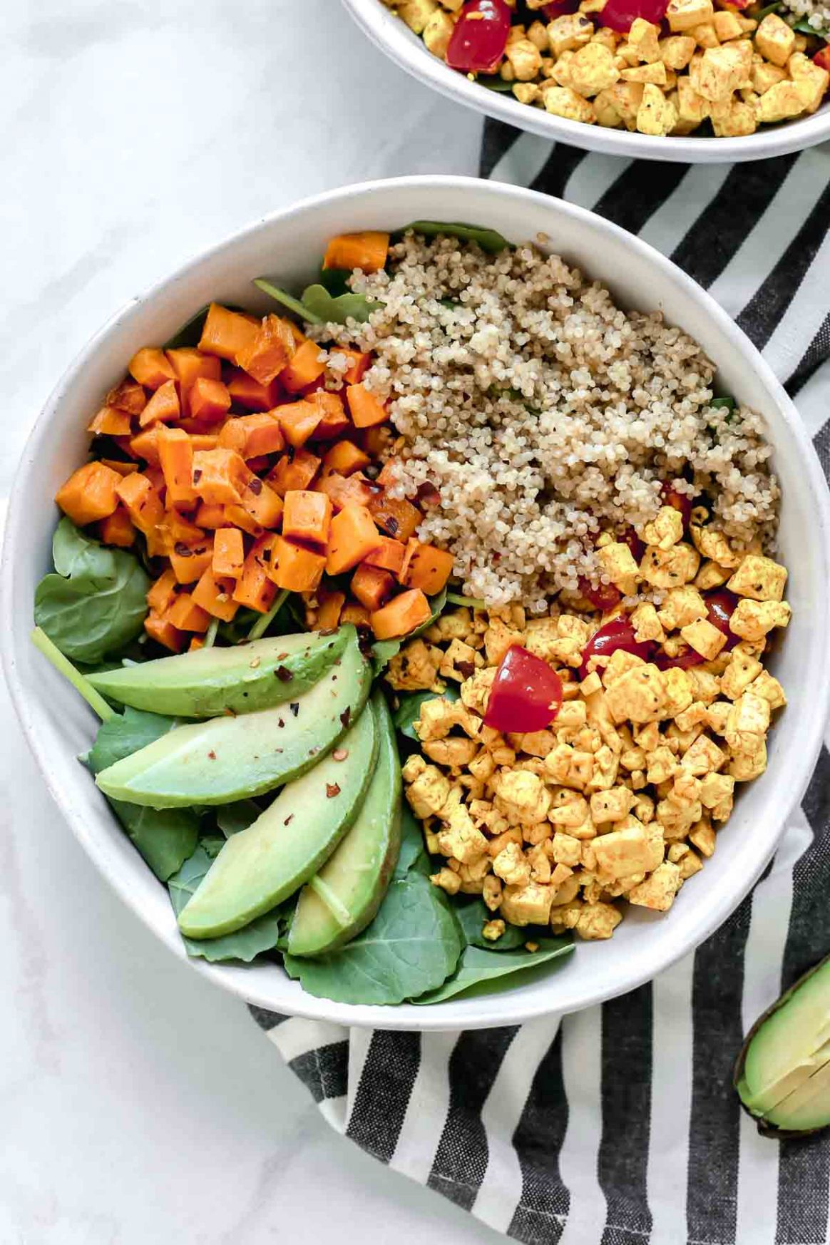 Tofu Scramble Vegan Breakfast Bowl - Breakfast Recipes Vegetarian
