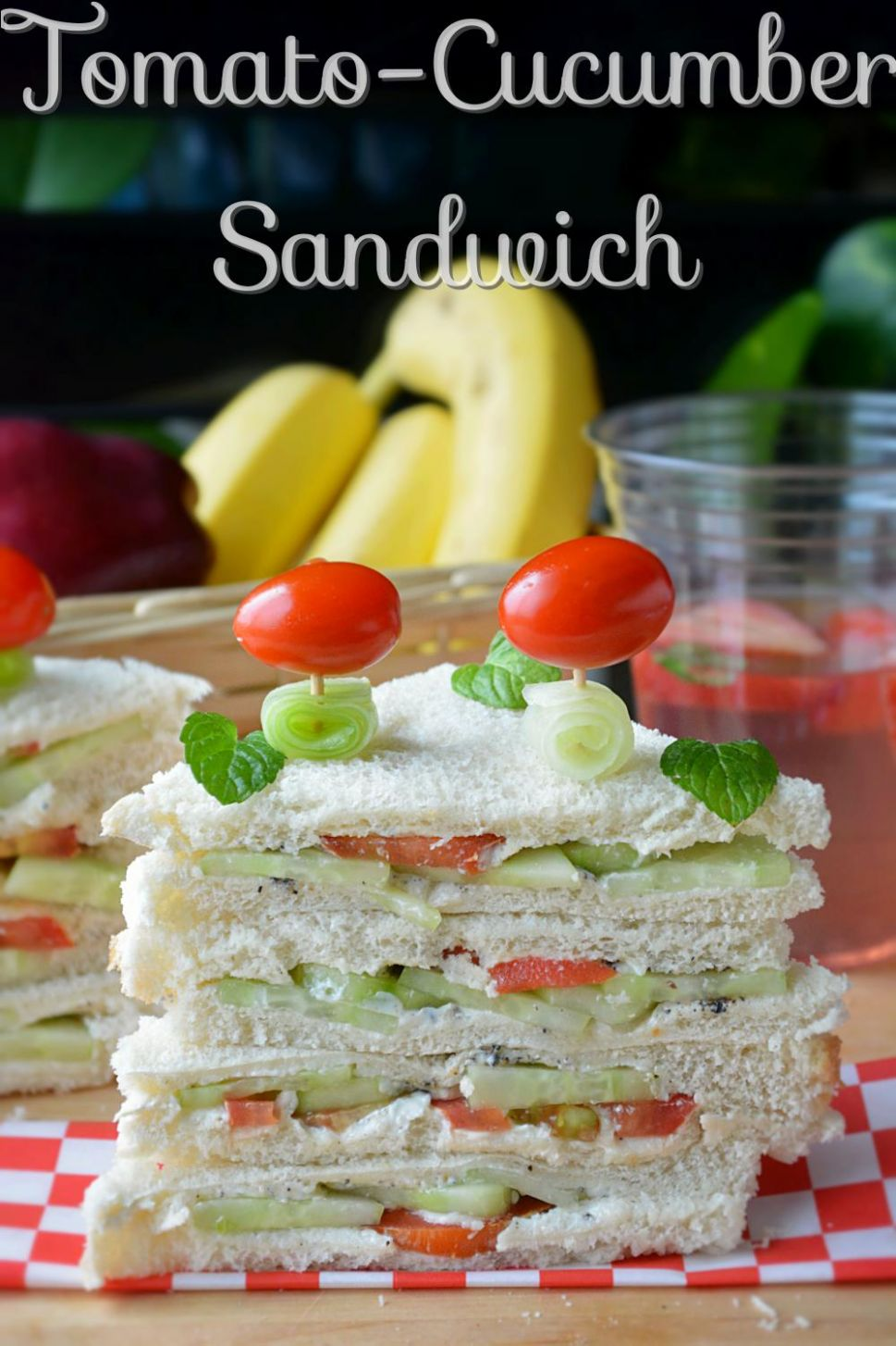 Tomato cucumber Veggie Sandwich - Recipes Of Sandwich In English