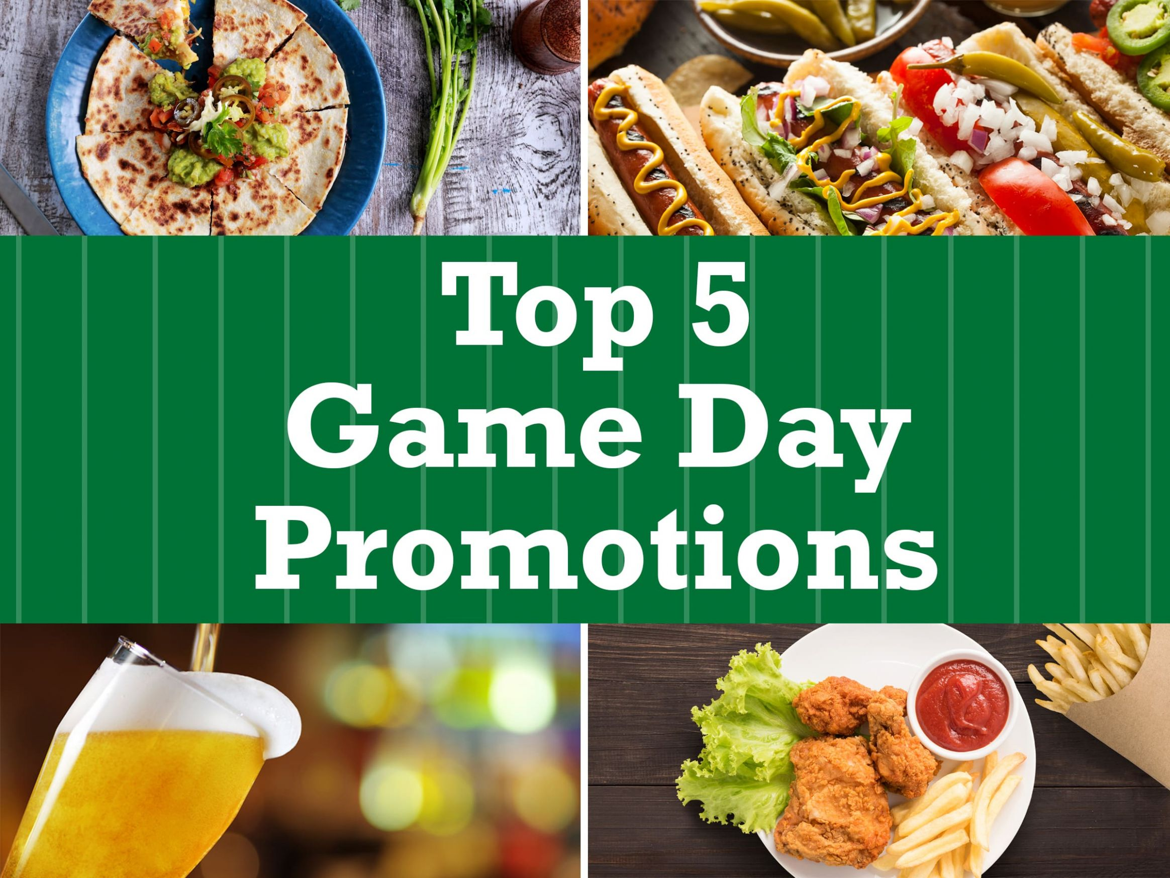 Top 12 Game Day Promo Ideas to try for your Restaurant | TriMark ..