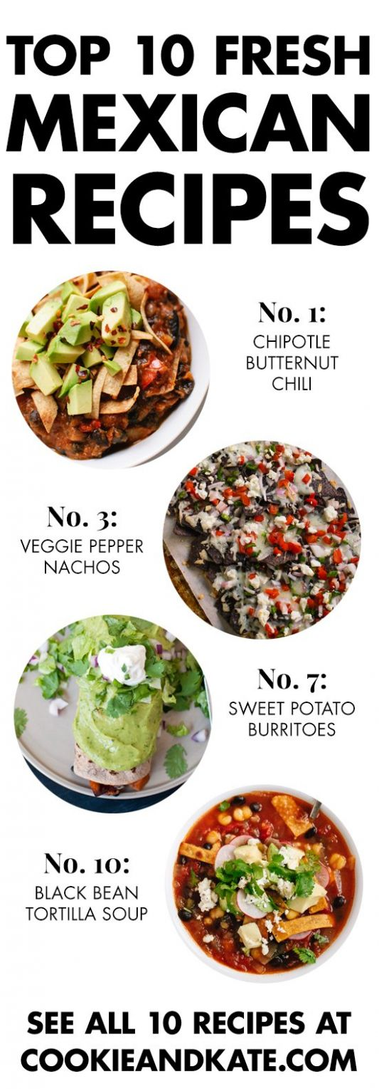 Top 12 Vegetarian Mexican Recipes - Cookie and Kate - Recipes Vegetarian Mexican