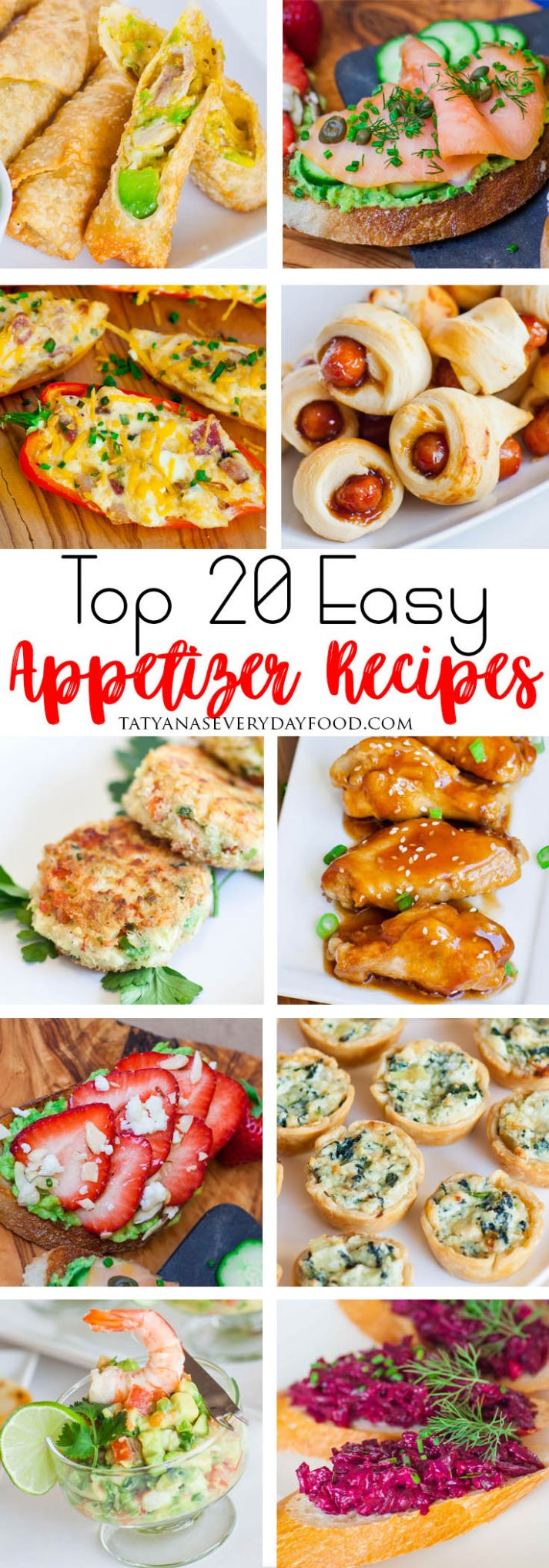 Top 8 Easy Appetizer Recipes - Simple Recipes Appetizers