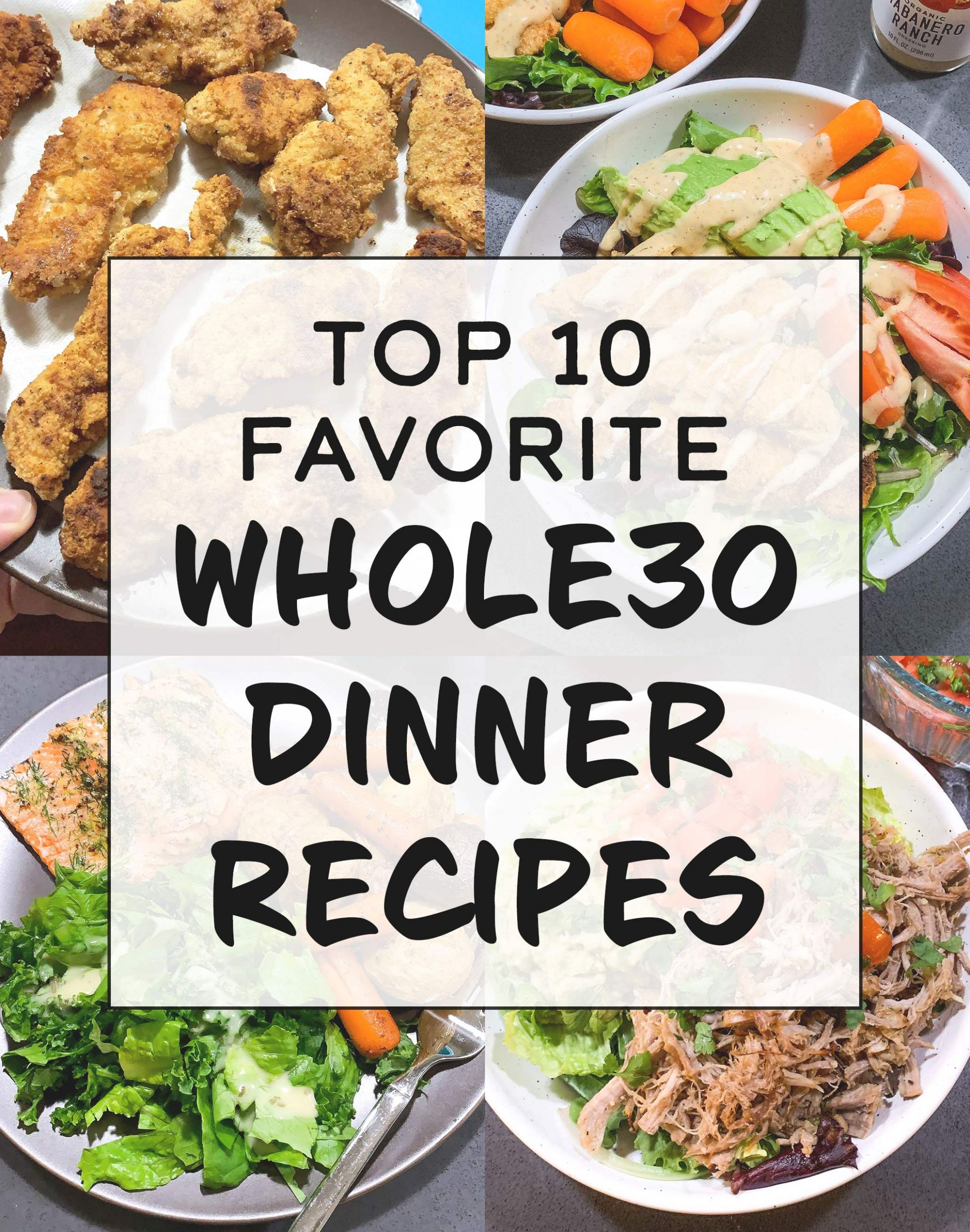 Top 8 Favorite Whole8 Dinner Recipes - Project Meal Plan - Food Recipes To M