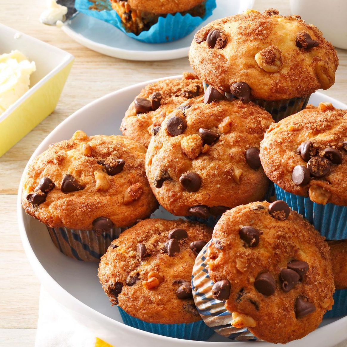 Traditional Chocolate Chip Muffins - Recipes Chocolate Chip Muffins