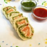 Tricolour Pinwheel Sandwich – Recipes Cooking Without Fire