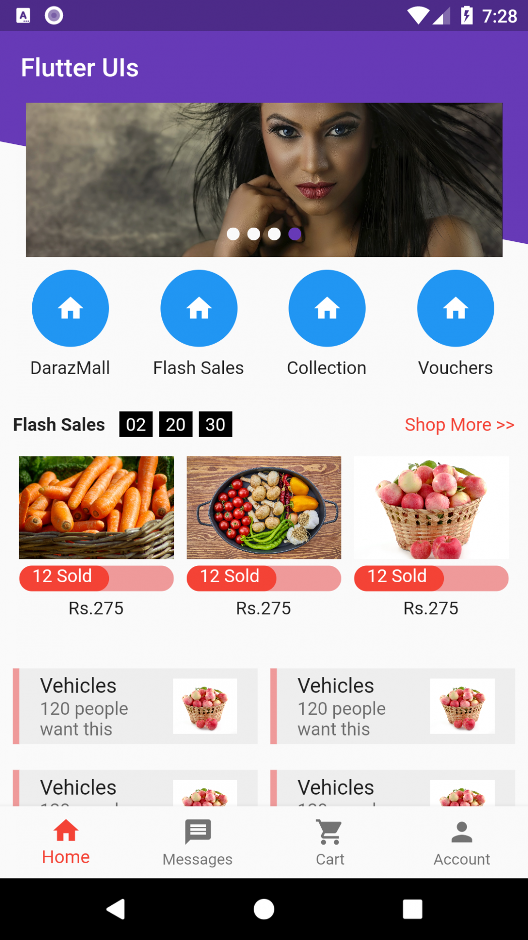 Trying to replicate various app UIs in flutter