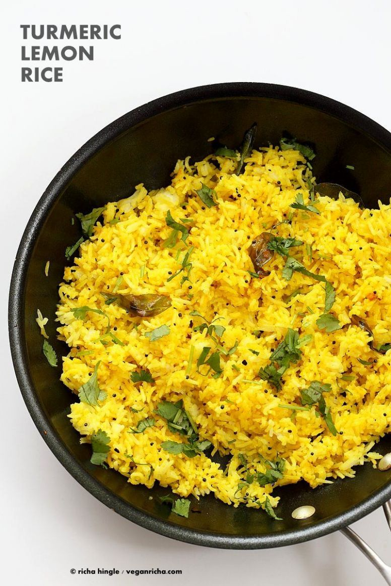 Turmeric Lemon Rice - Rice Recipes Veg