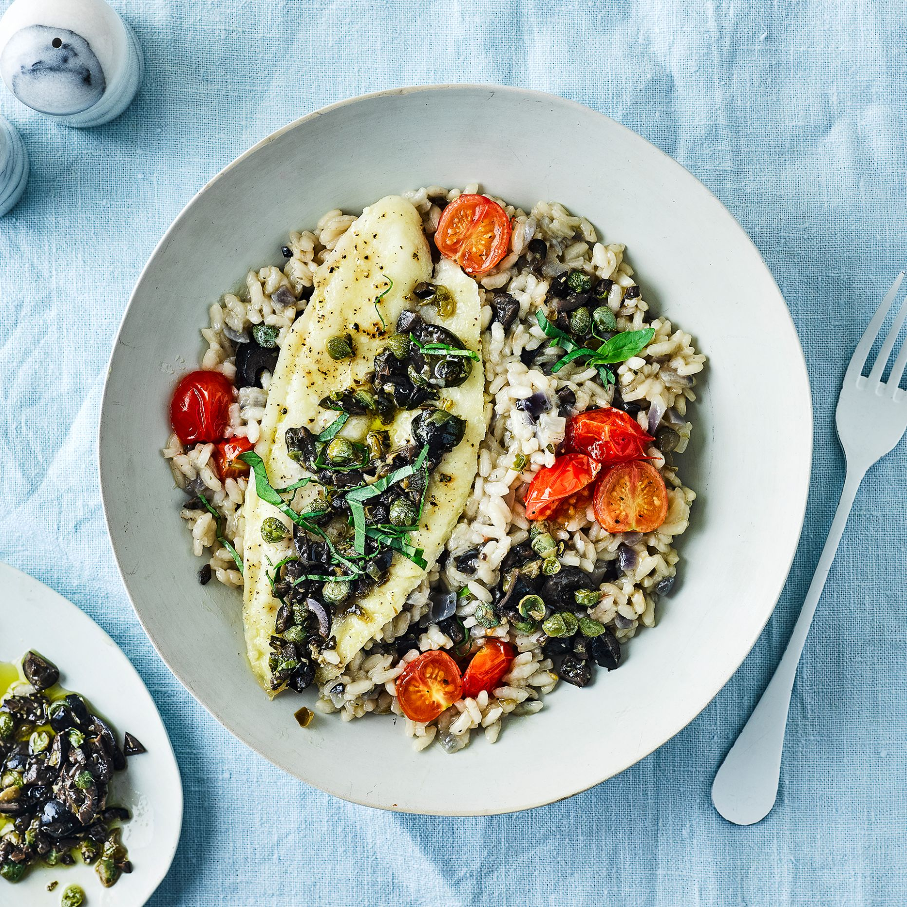 Tuscan Fish & Black Olive Risotto - Recipe Fish Risotto