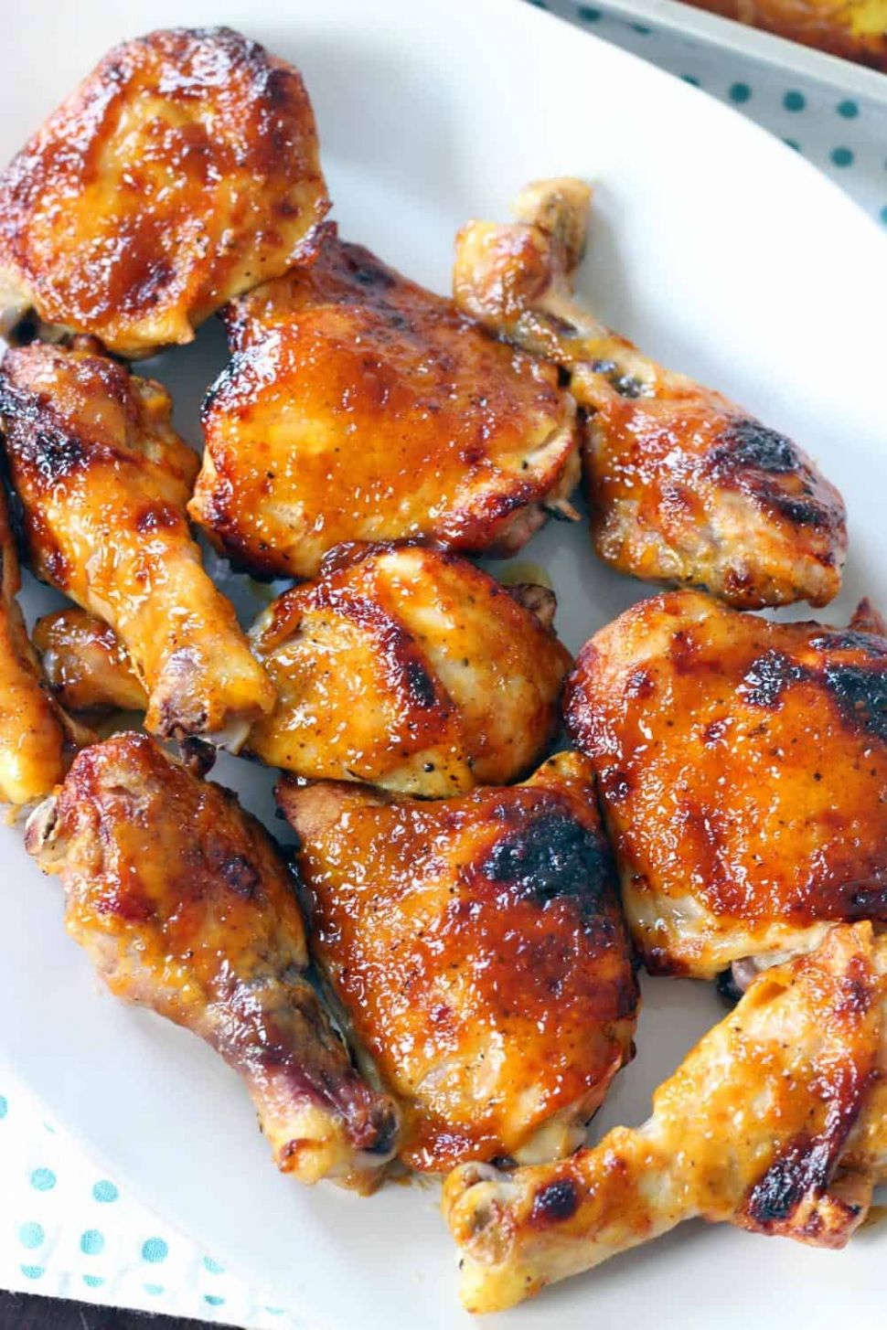 Two Ingredient Crispy Oven Baked BBQ Chicken - Recipe Chicken Oven Baked