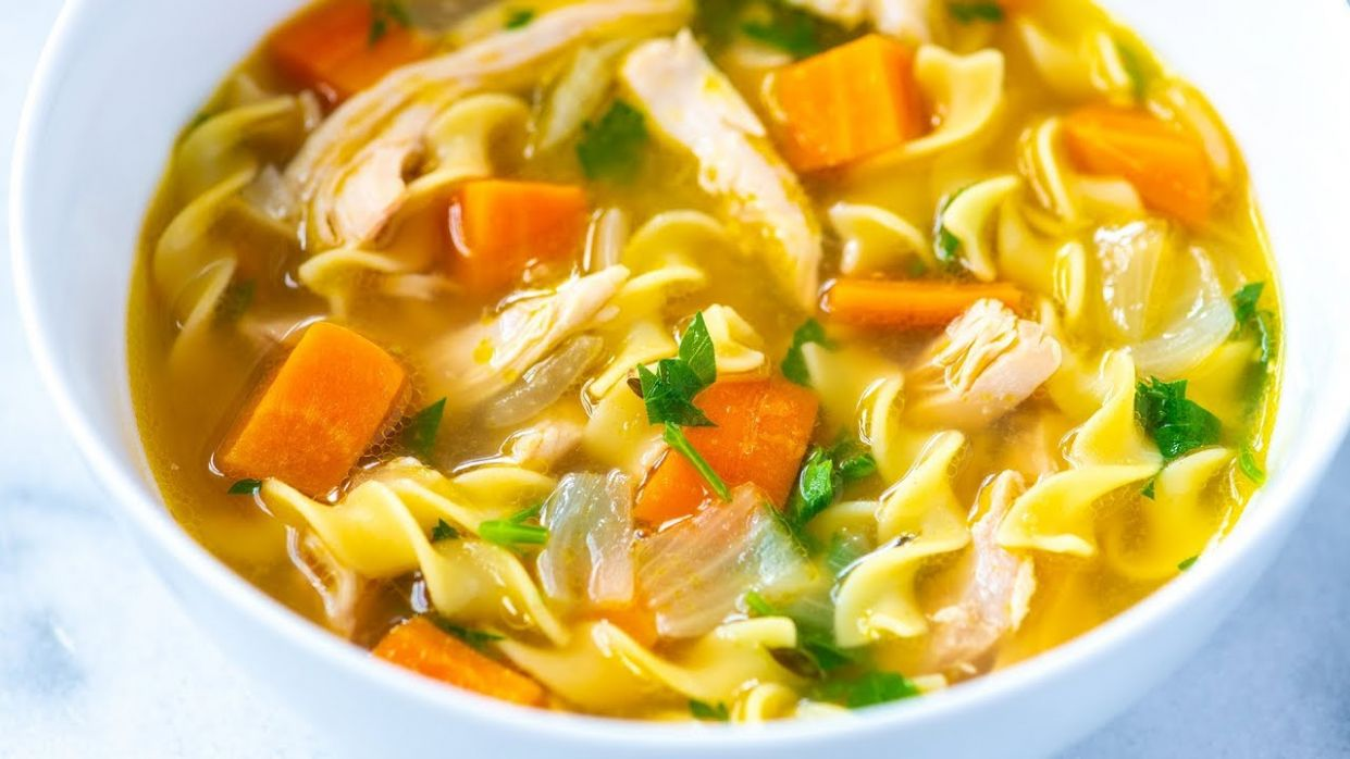 Ultra-Satisfying Homemade Chicken Noodle Soup Recipe - Soup Recipes Video