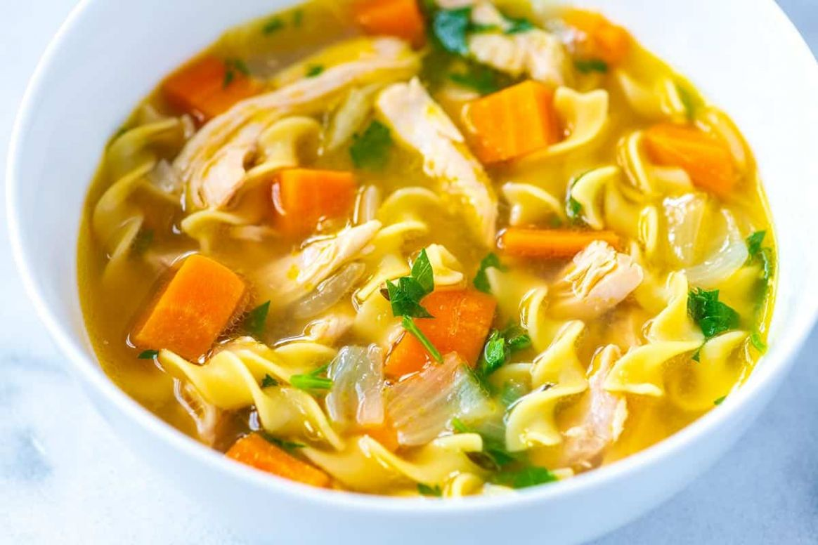 Ultra-Satisfying Homemade Chicken Noodle Soup - Soup Recipes Using Chicken