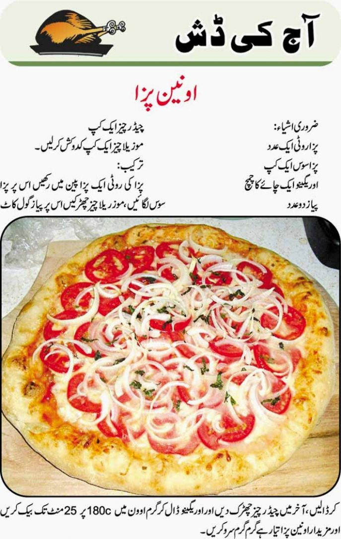 Urdu Blogs All About Urdu Posts: onion pizza recipes in urdu