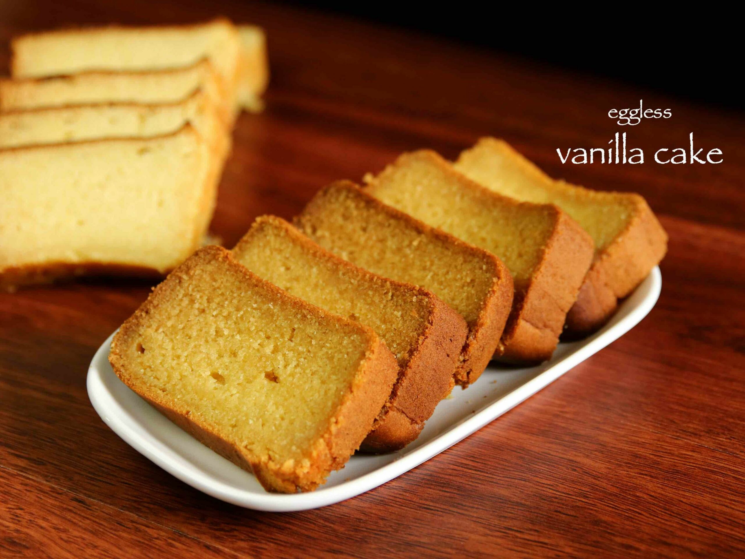 vanilla cake recipe | butter cake recipe | eggless vanilla cake or plain  cake - Cake Recipes Eggless