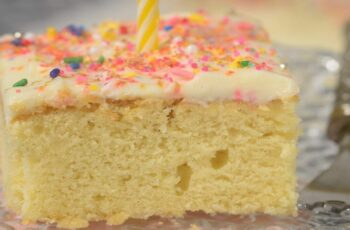 Vanilla Sheet Cake Recipe & Video