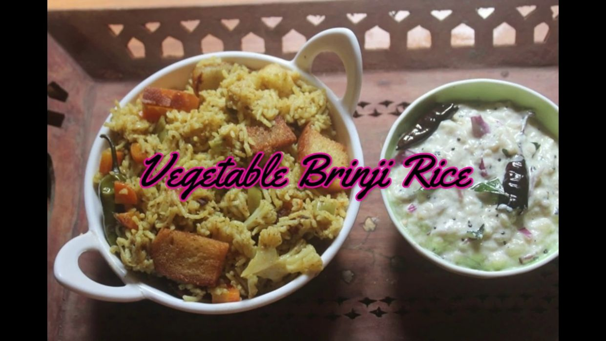 Veg Brinji Rice Recipe - Variety Rice Recipes Yummy Tummy