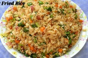 Veg Fried Rice in Kannada - ವೆಜ್‌ ಫ್ರೈಡ್ ರೈಸ್ | Vegetable Fried Rice Recipe  in Kannada | Rekha Aduge