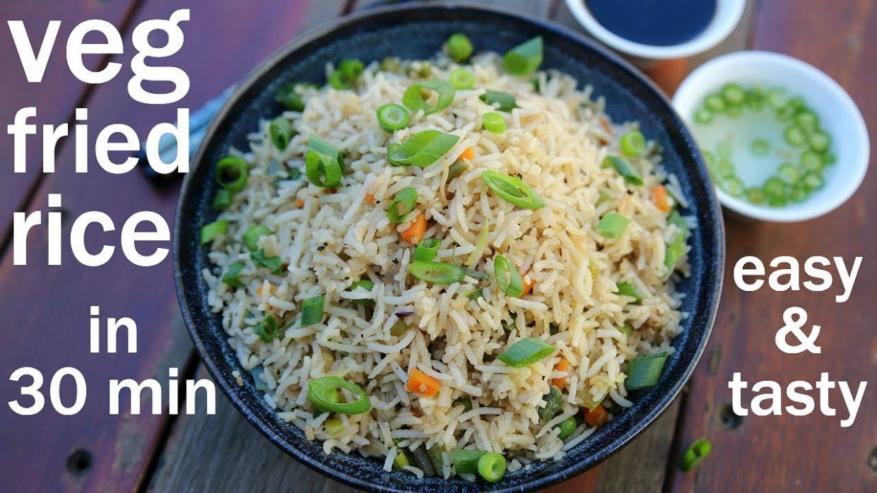 veg fried rice recipe | vegetable fried rice | chinese fried rice - Dinner Recipes Hebbars