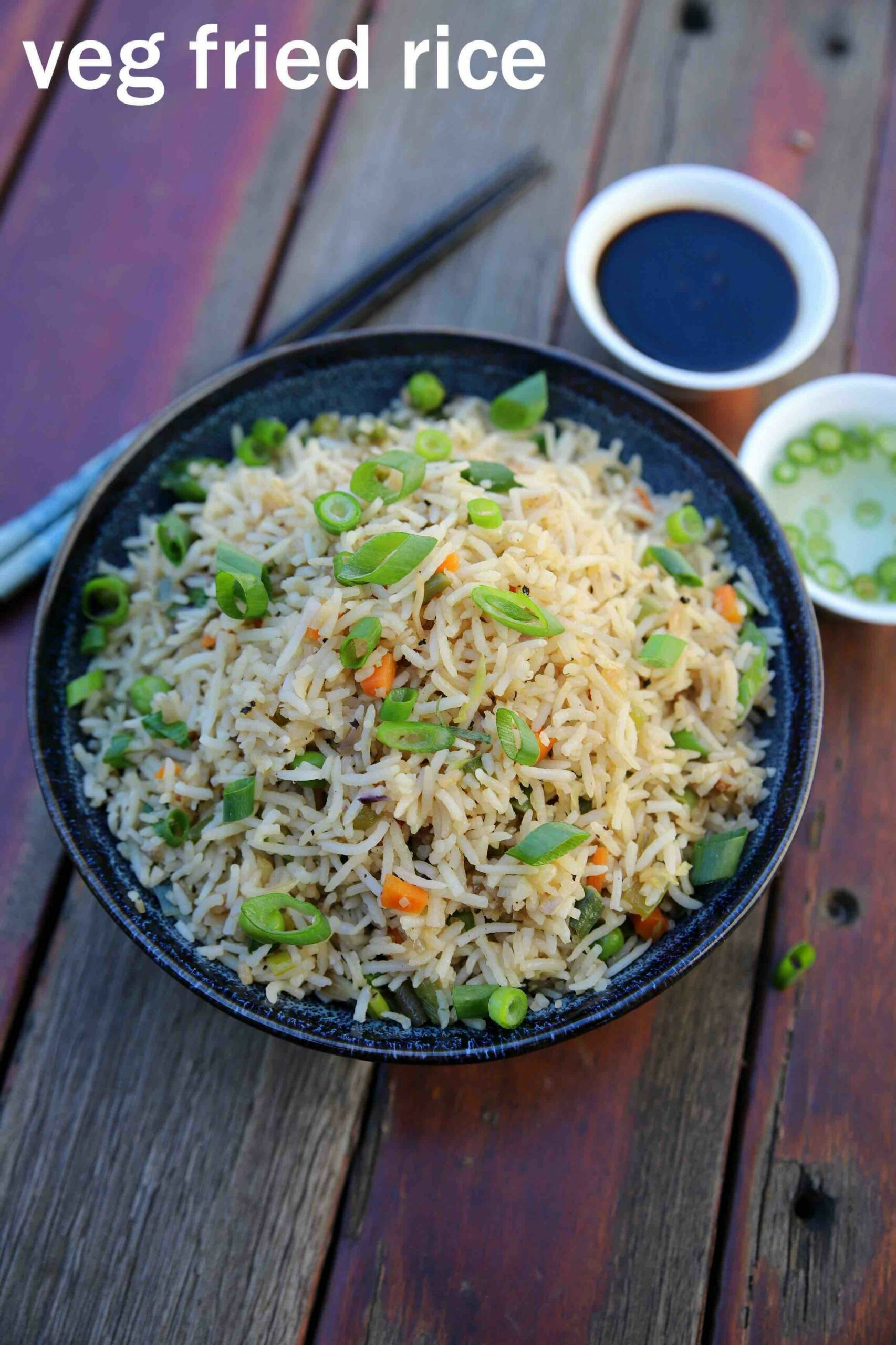 veg fried rice recipe | vegetable fried rice | chinese fried rice - Rice Recipes Veg