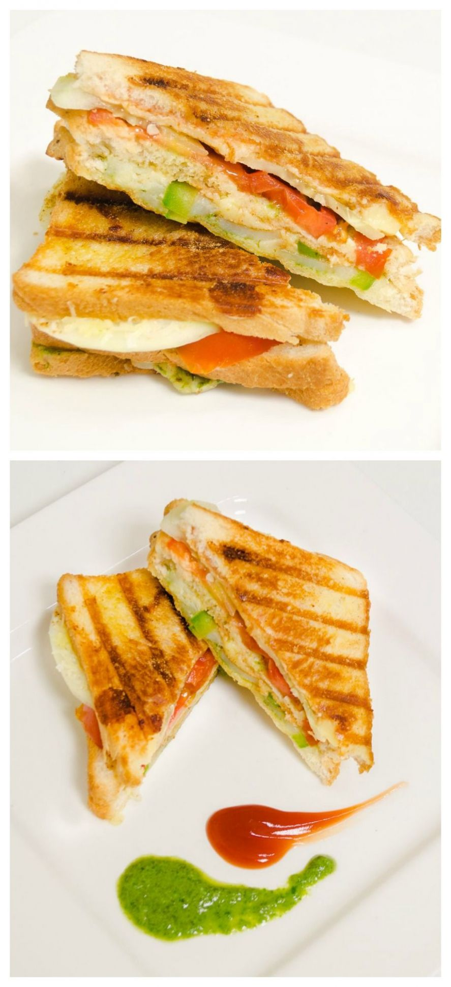 Veg #Grill #Sandwich - Double Decker - Quick And #Easy Indian ..