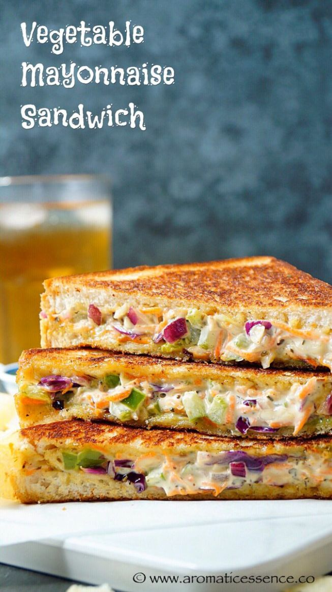 Veg Mayonnaise Sandwich Recipe | Mayo Sandwich | Grilled Mayo Sandwich