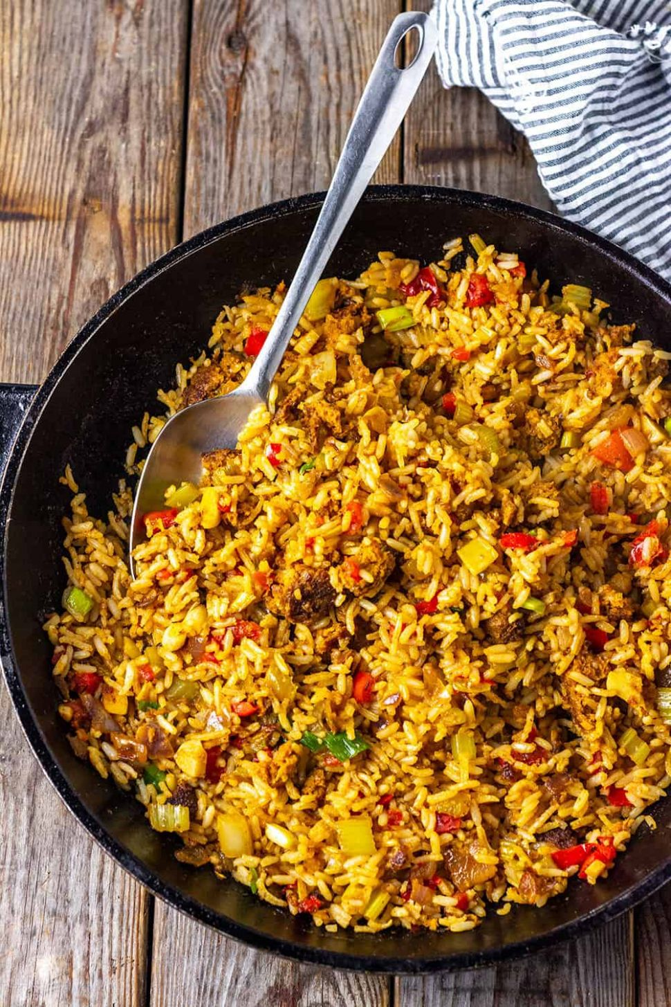 Vegan Dirty Rice - Rice Recipes Veg
