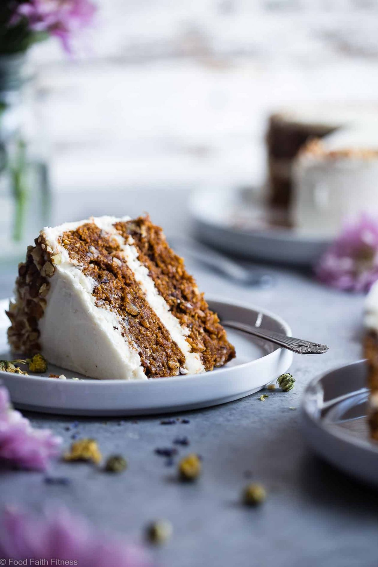 Vegan Gluten Free Dairy Free Carrot Cake | Food Faith Fitness