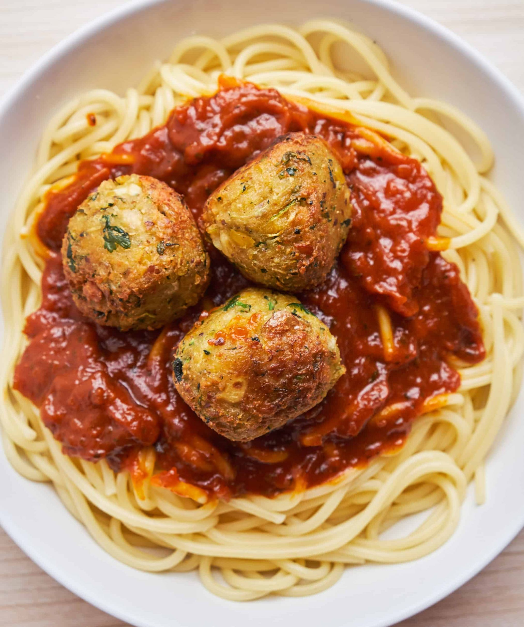 Vegan Meatballs (Chickpea-Zucchini) | Veganbell - Vegan Recipes Zucchini Meatballs