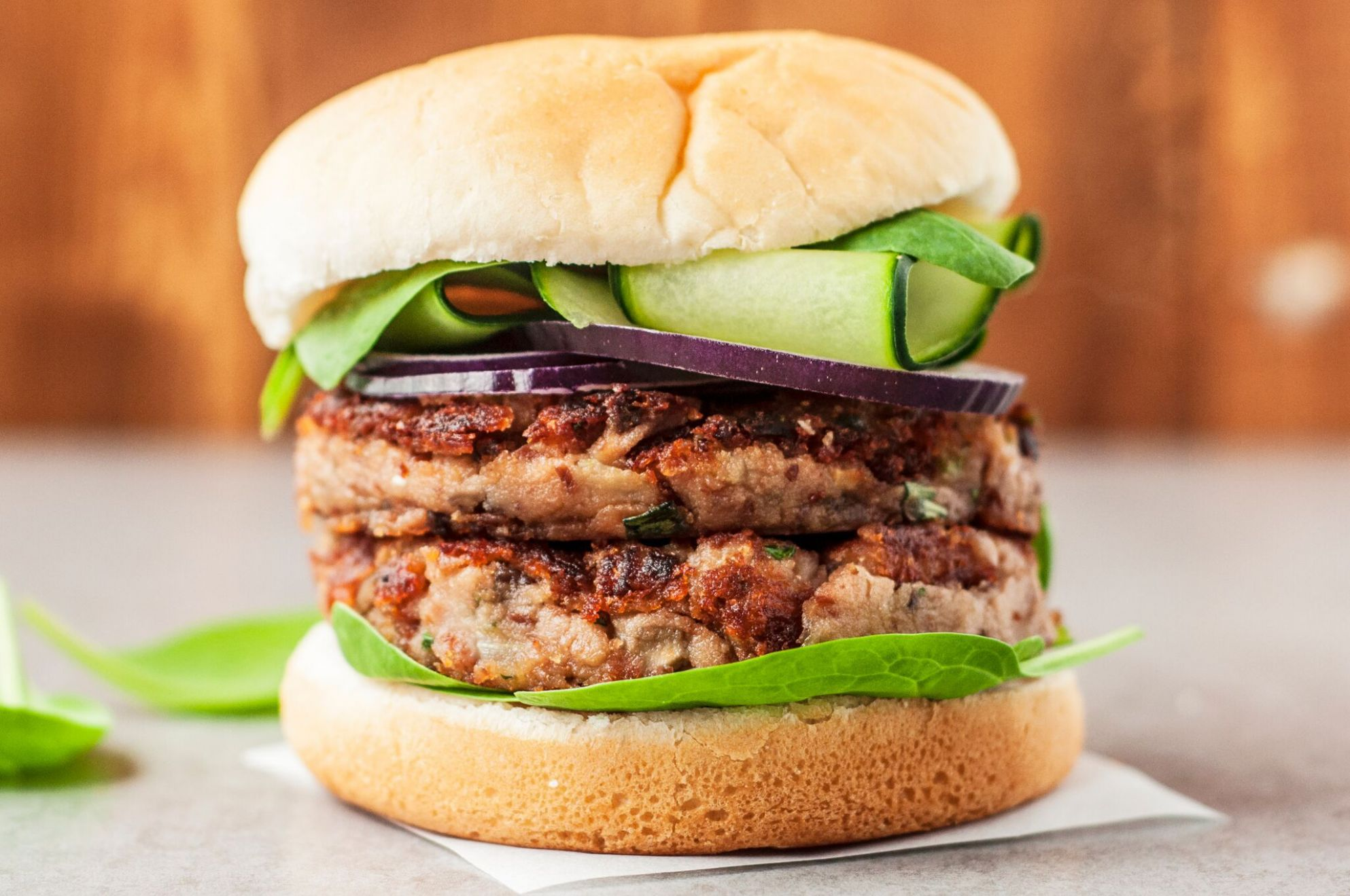 Vegan Mushroom Bean Burger - Recipes Vegetarian Patties