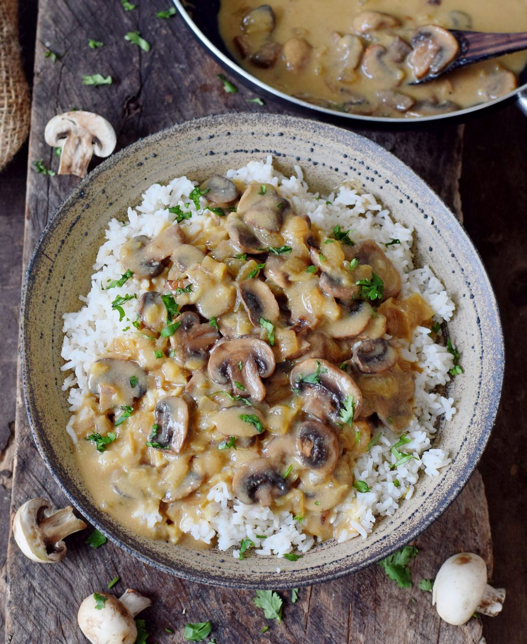 Vegan Mushroom Stroganoff - Rice Recipes Gluten Free
