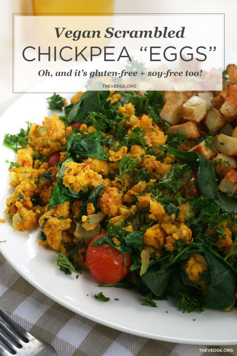 "Vegan Scrambled Chickpea ""Eggs"" with Quick Hash (Egg-Free, Soy .."