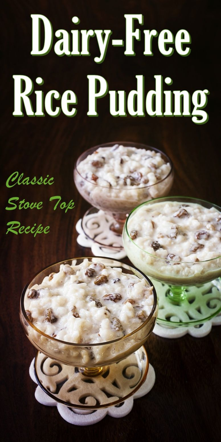Vegan Stovetop Rice Pudding - Rice Recipes Dairy Free