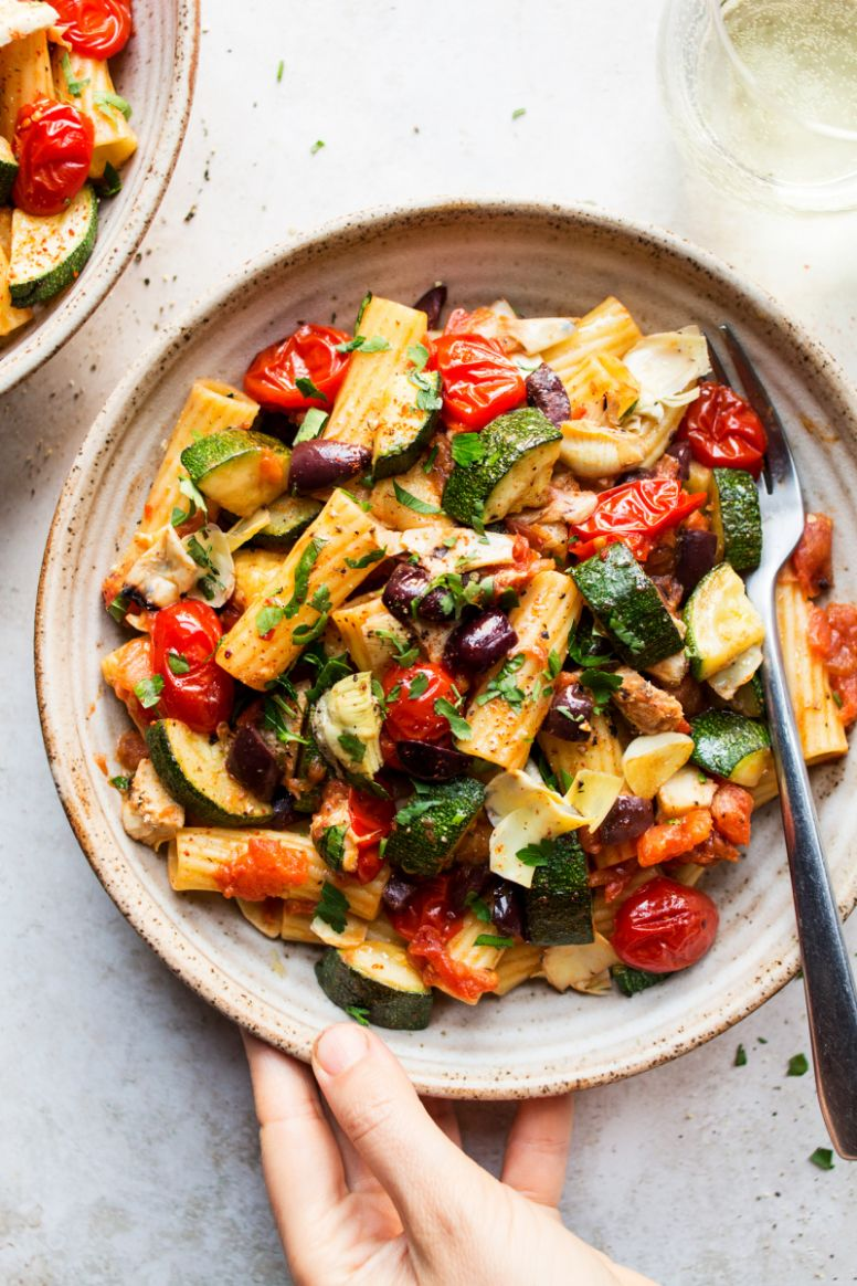 Vegan summer pasta - Recipes Summer Lunch
