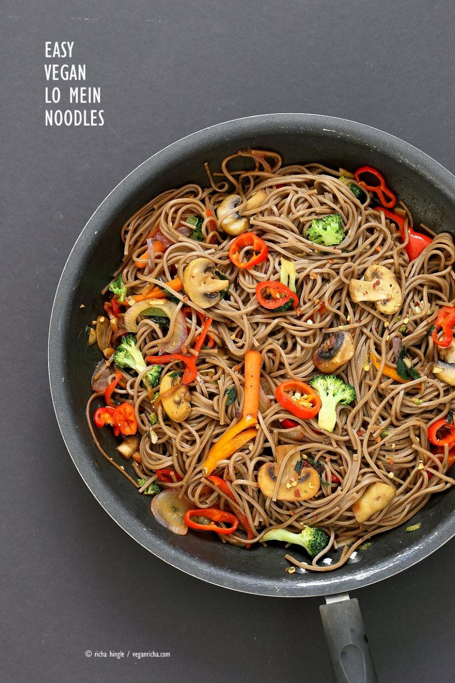 Vegan Vegetable Lo Mein with Soba Noodles - Recipes Vegetable Lo Mein