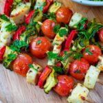 Vegetable And Halloumi Kebabs – Recipe Vegetarian Kebabs