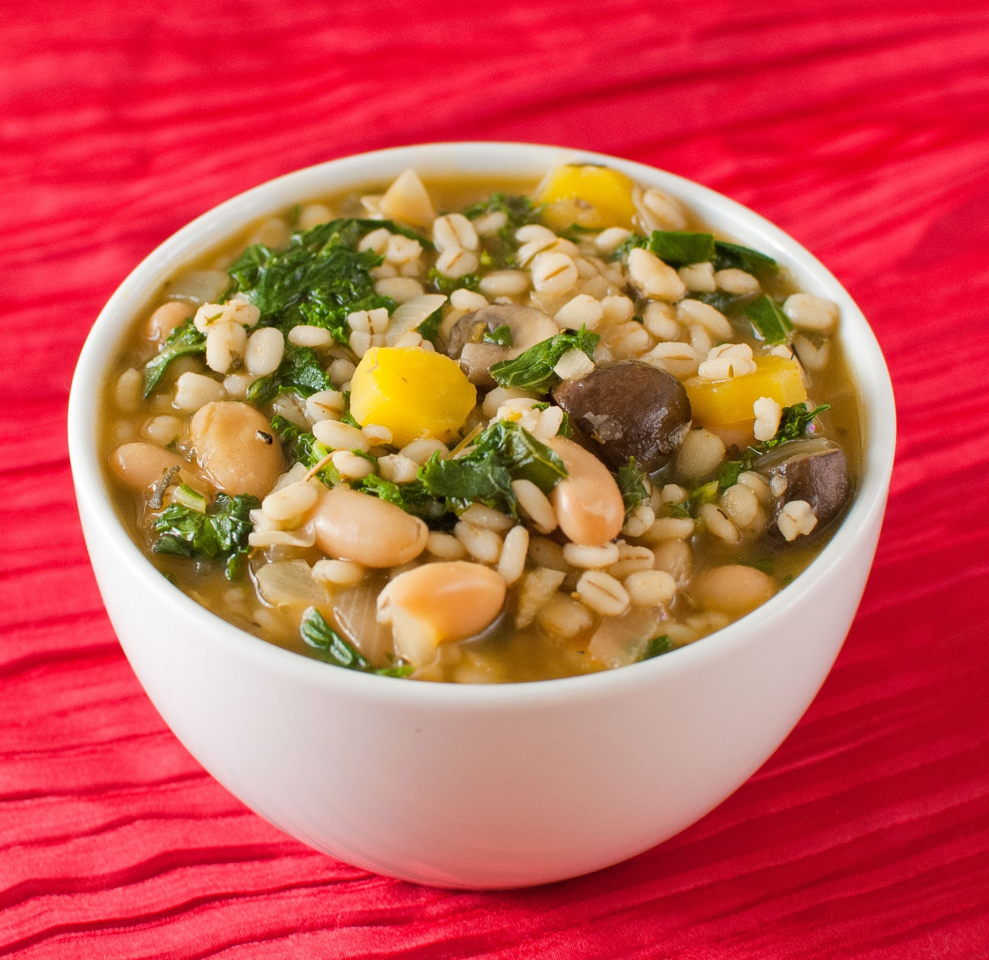 Vegetable Barley Soup with White Beans - Recipes Vegetable Barley Soup