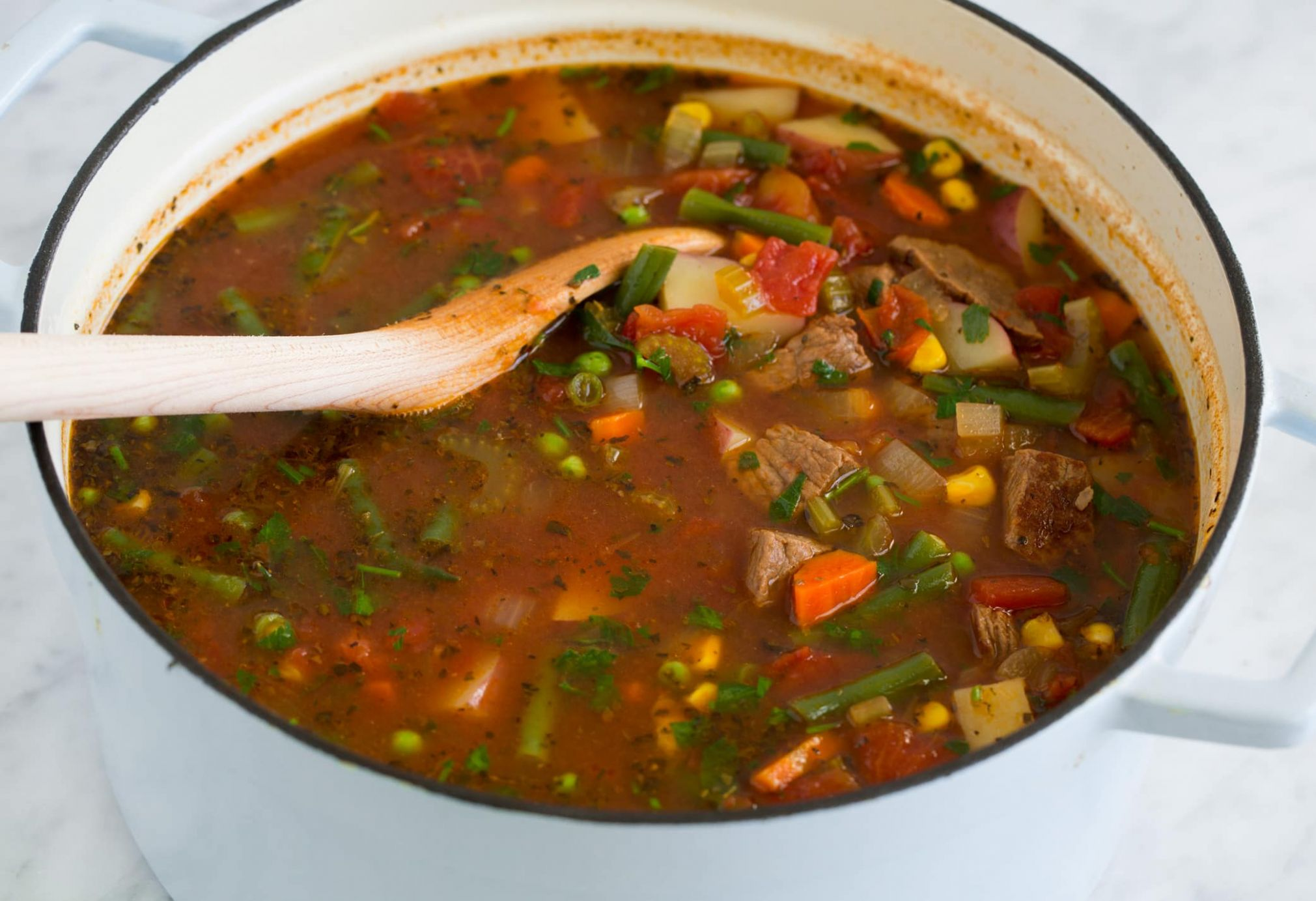 Vegetable Beef Soup - Cooking Classy