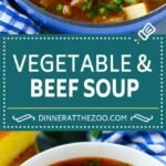 Vegetable Beef Soup – Dinner At The Zoo – Recipes Veg Beef Soup