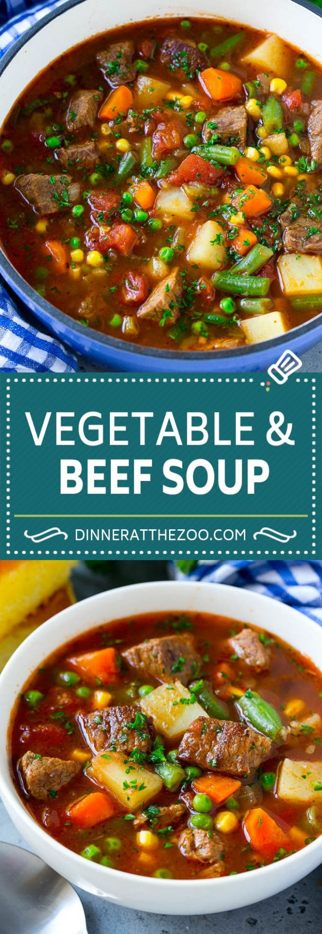 Vegetable Beef Soup - Dinner at the Zoo - Recipes Veg Beef Soup
