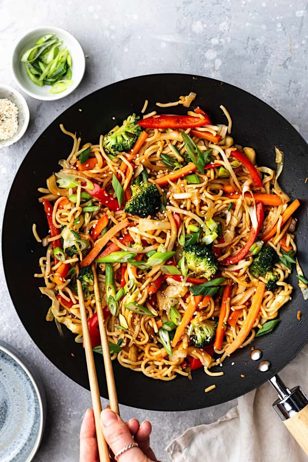 Vegetable Chow Mein - Cupful of Kale - Recipes Vegetable Lo Mein