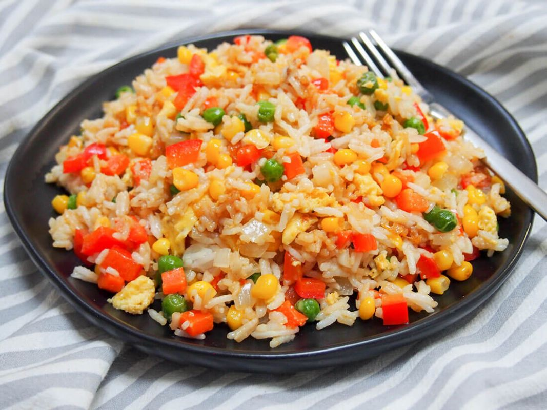 Vegetable egg fried rice - Recipes Rice And Vegetables