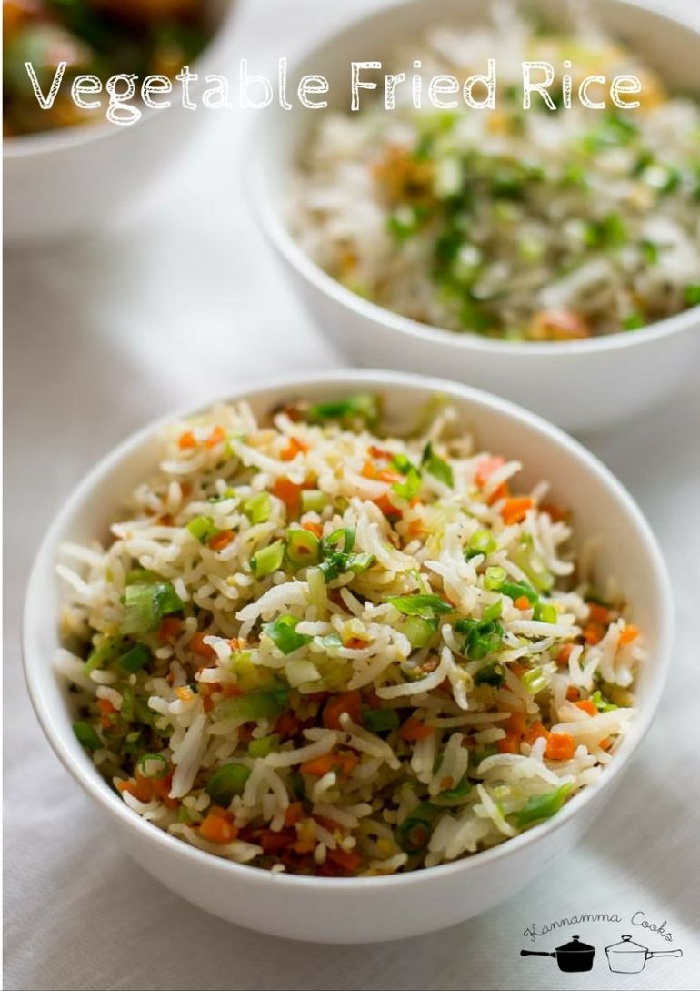 Vegetable Fried Rice, Easy Fried Rice - Rice Recipes Veg Indian