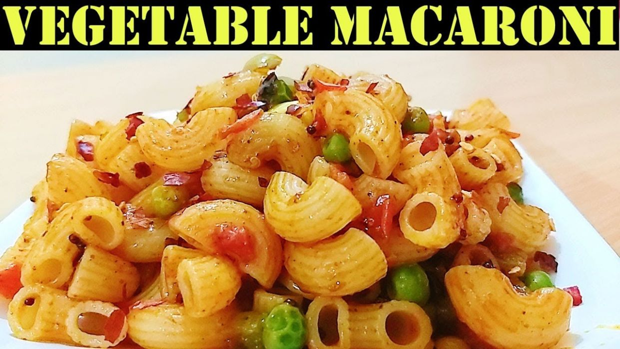 Vegetable Masala Macaroni - Recipe Indian Style | Jain Food Recipe | Recipe  in Hindi - Pasta Recipes Jain