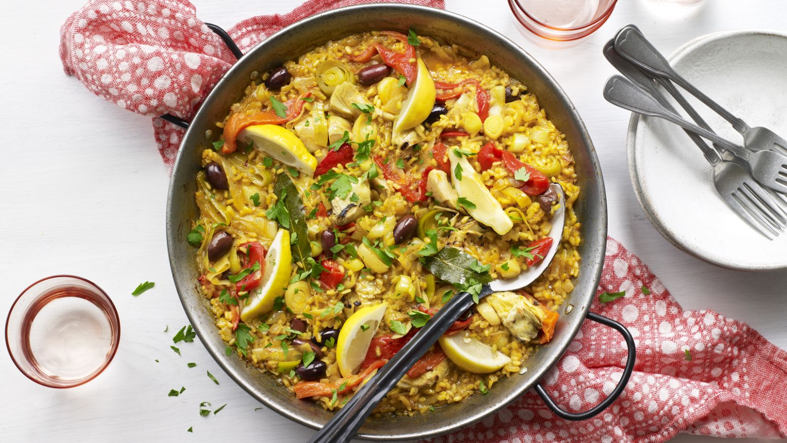 Vegetable paella - Vegetable Recipes Uk