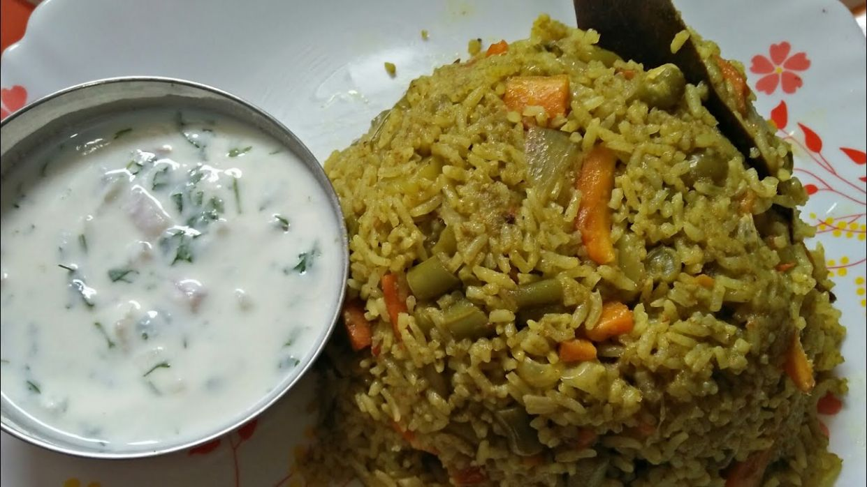 Vegetable Pulao/ Vegetable Pulao In Cooker / Mixed Vegetable Pulao in  Kannada - Rice Recipes Veg In Kannada
