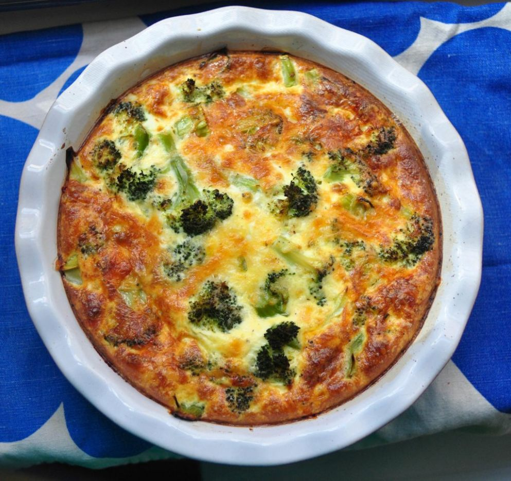 Vegetable Quiche, Hold the Crust