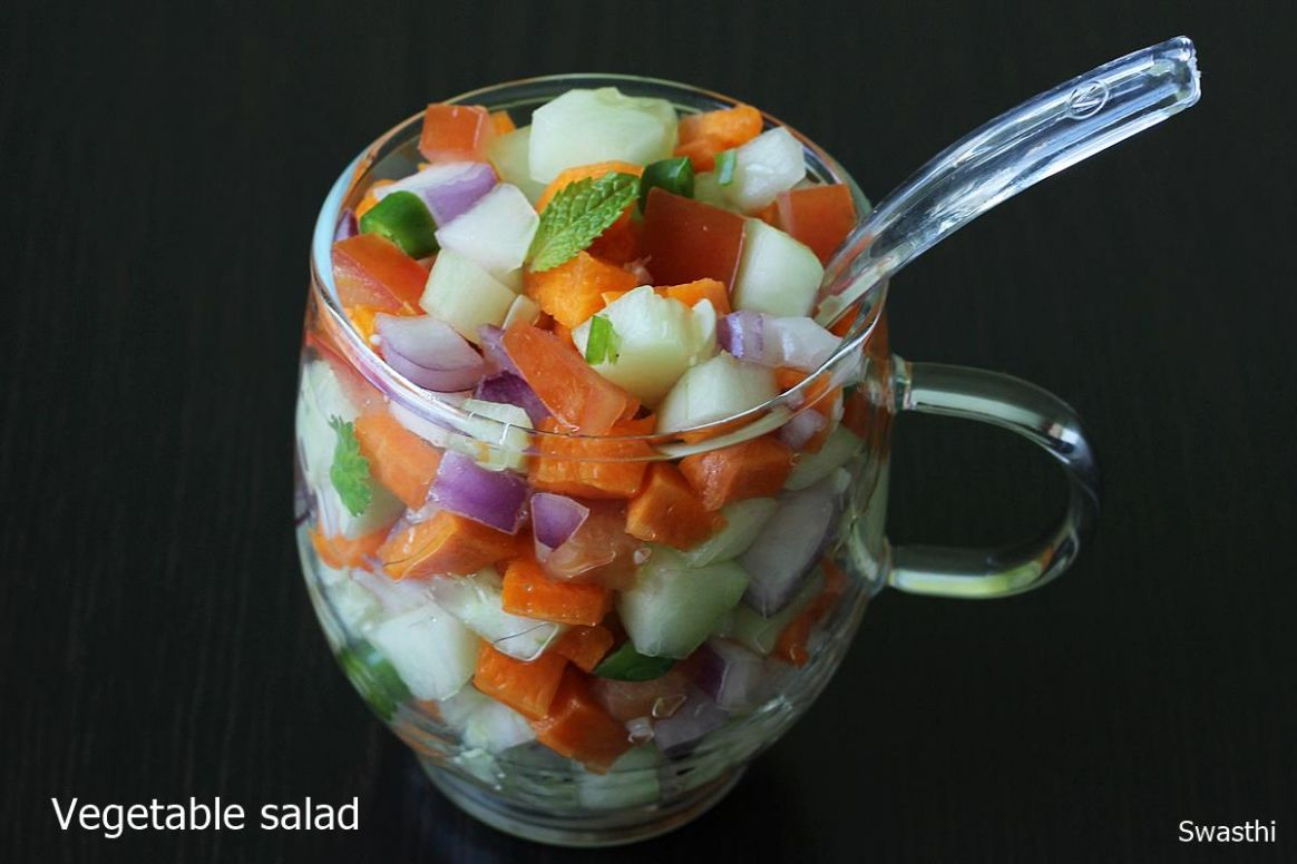 Vegetable salad recipe | Indian vegetable salad recipe | Salad recipes - Salad Recipes Kerala