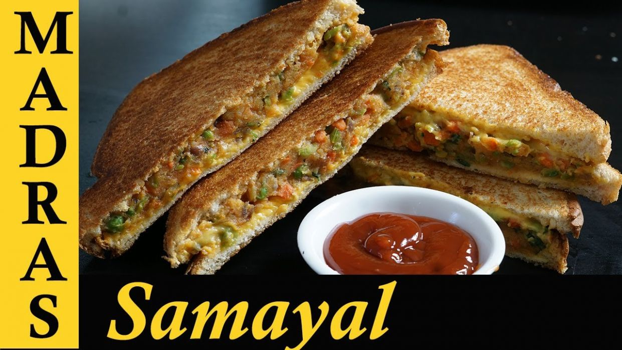 Vegetable Sandwich Recipe in Tamil | Veg Sandwich Indian style | How to  make Vegetable Sandwich - Dinner Recipes In Madras Samayal
