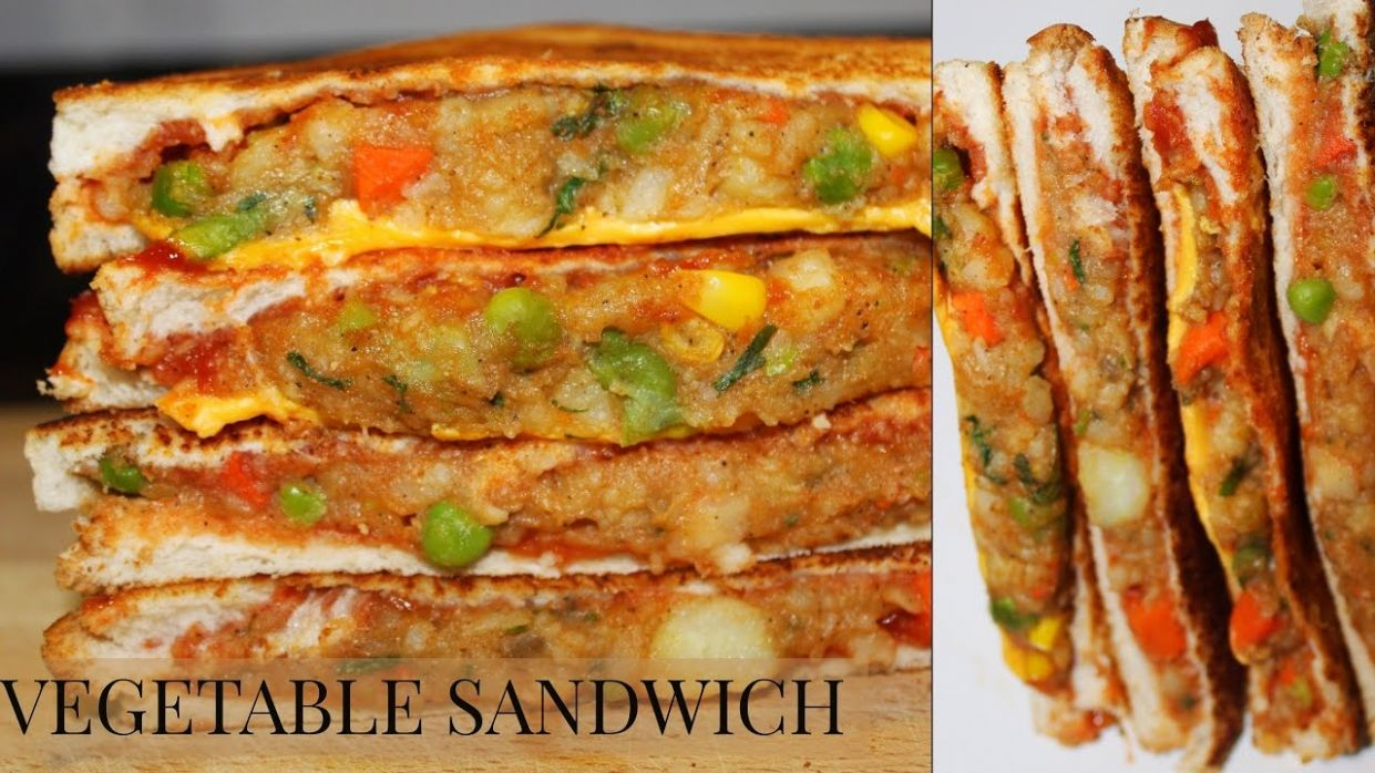 VEGETABLE SANDWICH RECIPE INDIAN STYLE/HOW TO MAKE MIXED VEGETABLE SANDWICH - Sandwich Recipes Kerala Style